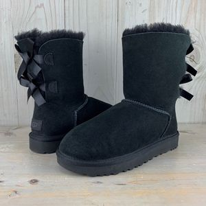 UGG BAILEY BOW 2 BLACK DOUBLE BOWS BOOTS